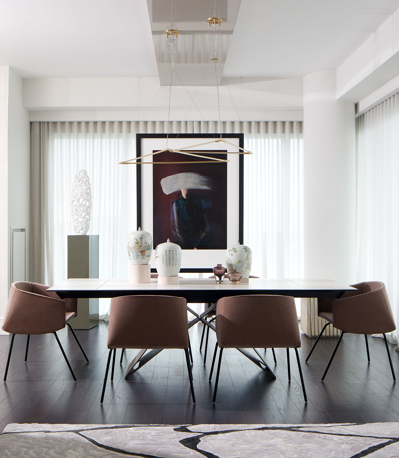 Bay street modern condo table and chairs